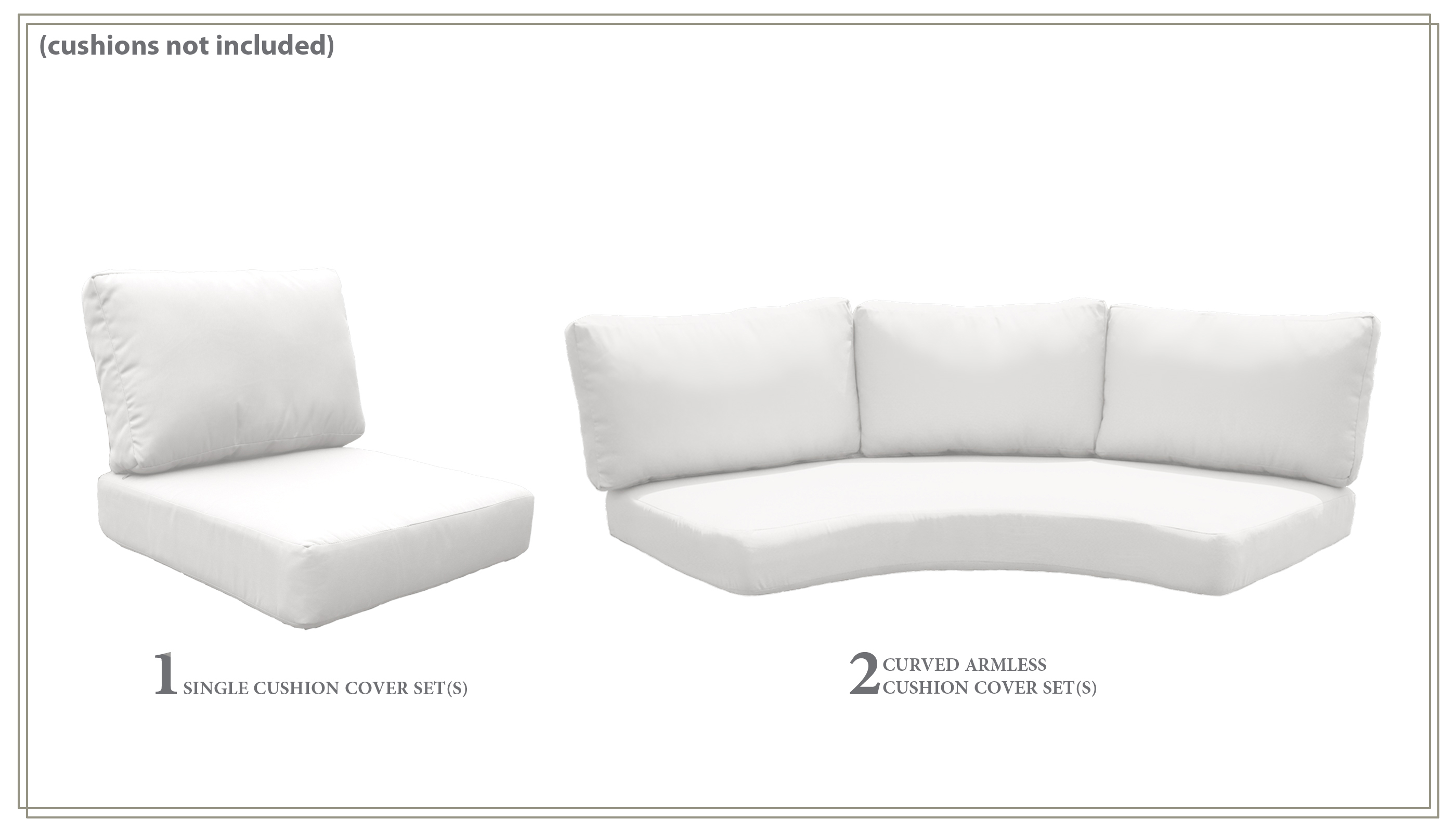 High Back Cover Set for BERMUDA-06a - Design Furnishings