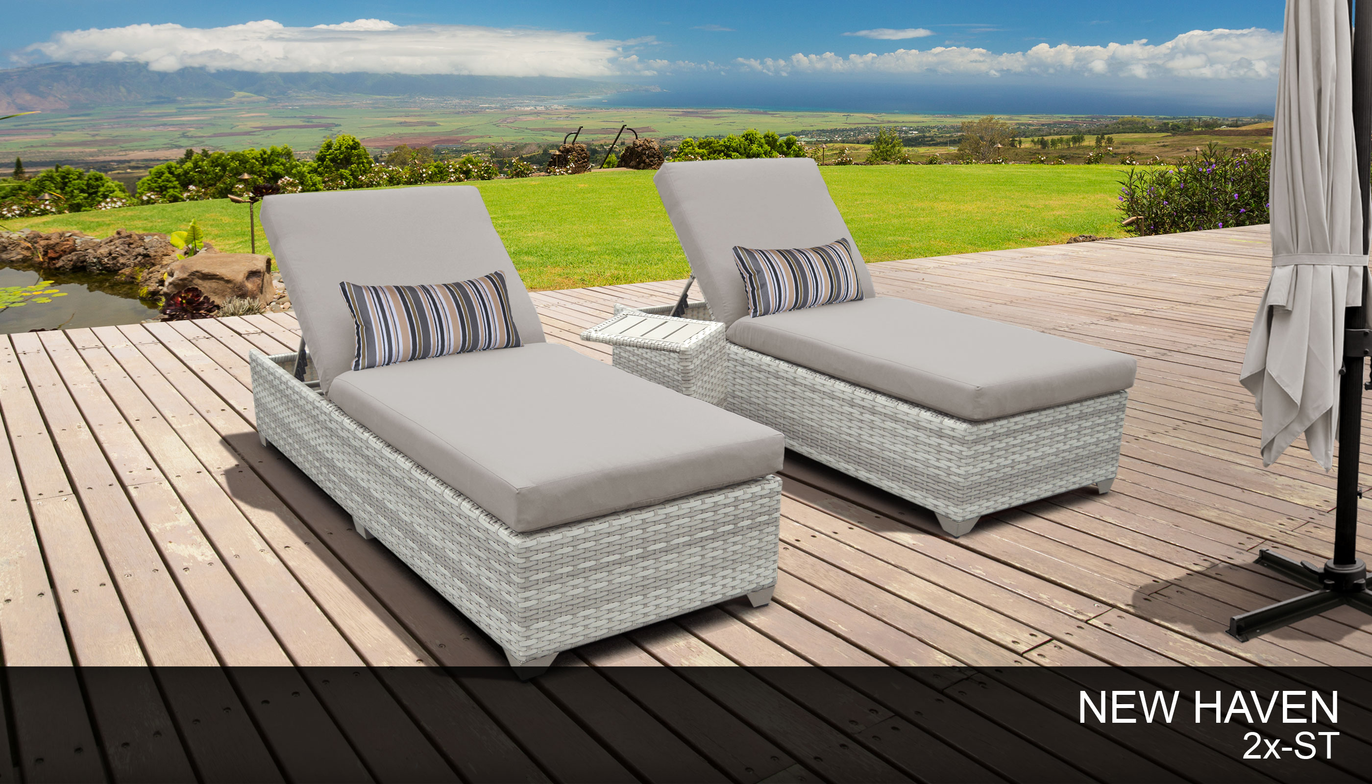 New Haven 12 Piece Outdoor Wicker Patio Furniture Package NEWHAVEN-02a-BWC - Design Furnishings