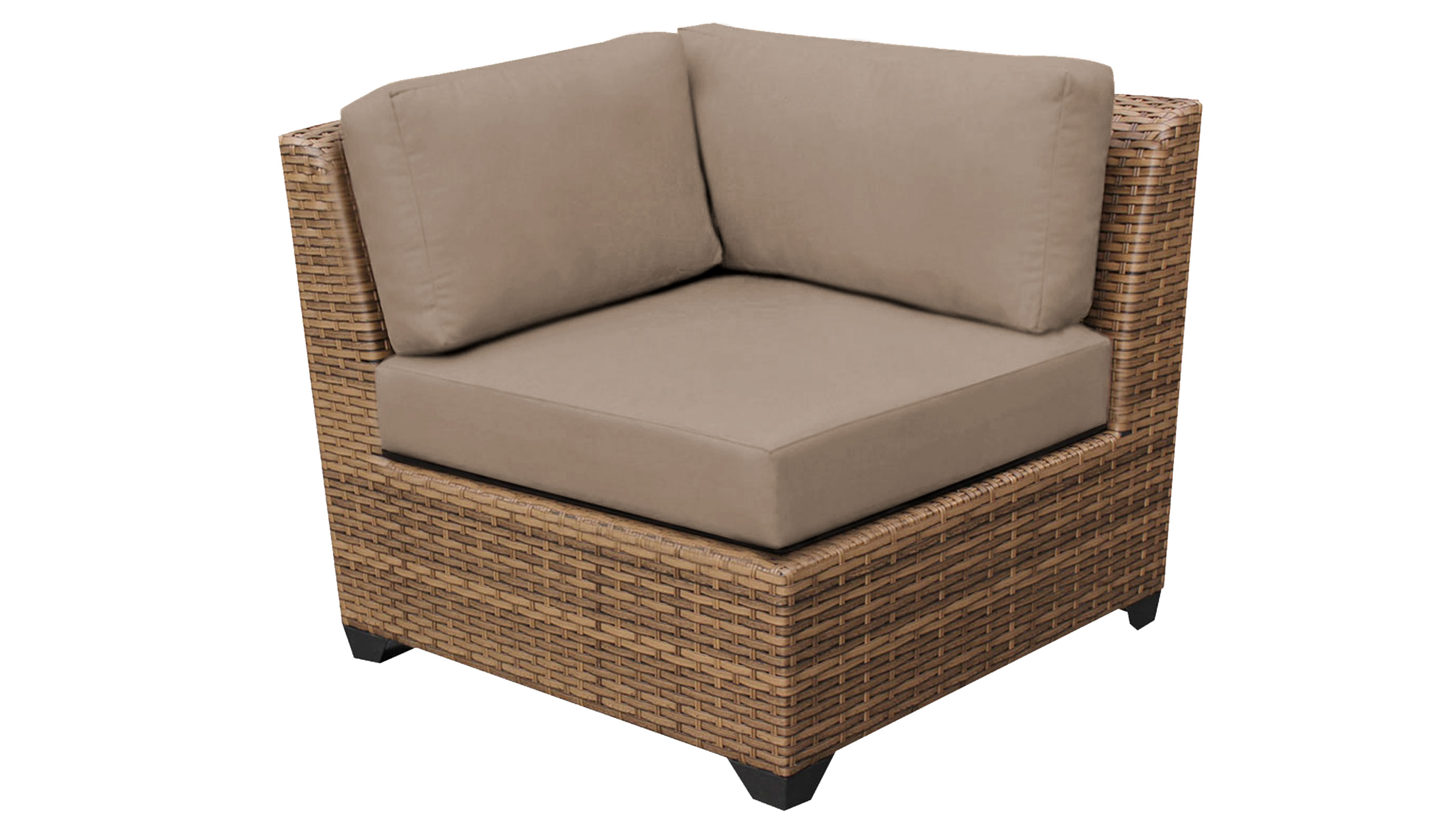 Tuscan 6 Piece Outdoor Wicker Patio Furniture Set 06o - Design Furnishings