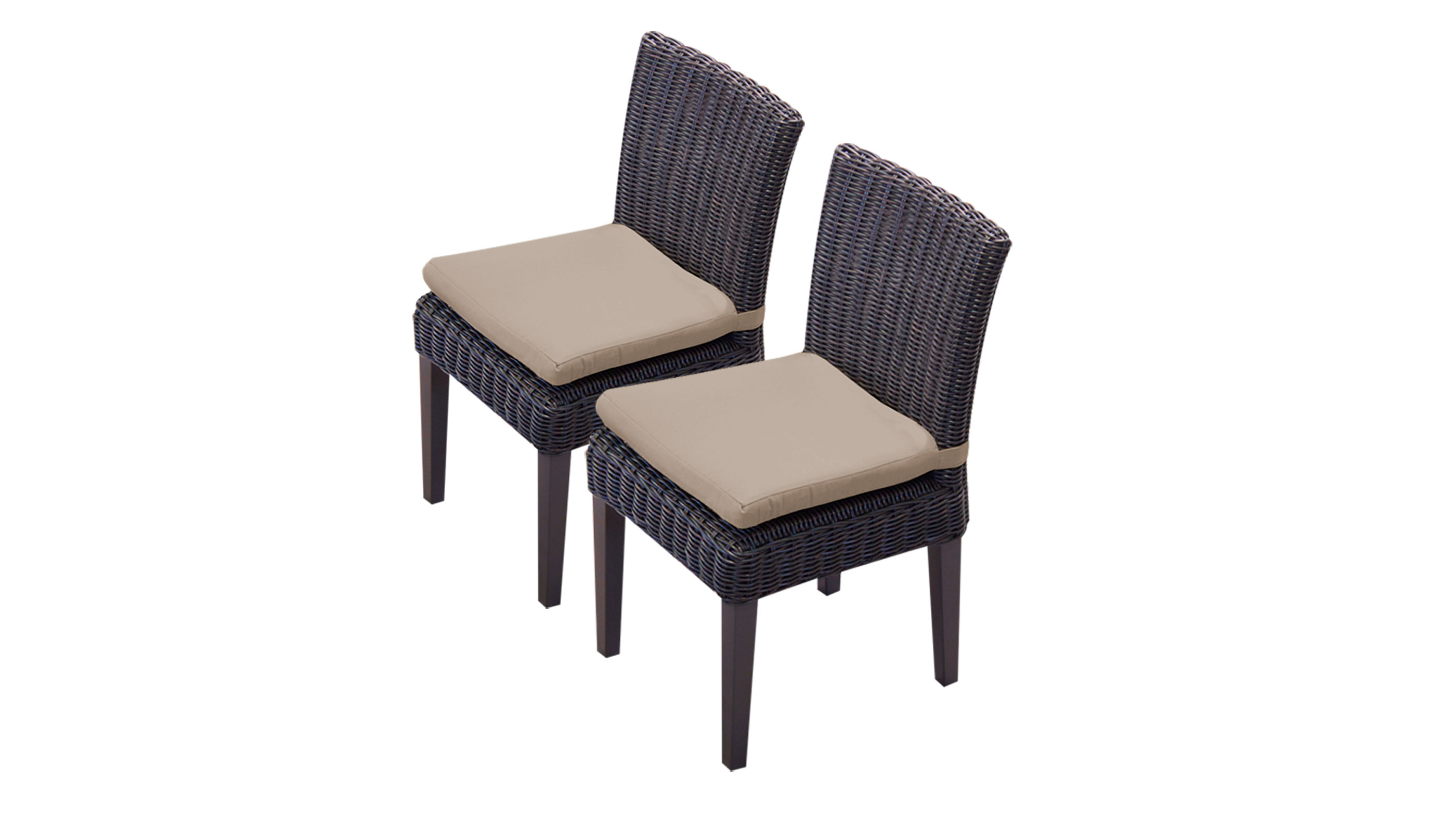 2 Rustico Armless Dining Chairs