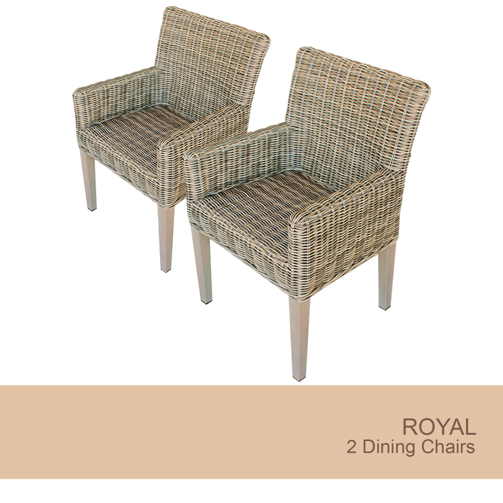 2 Royal Dining Chairs With Arms