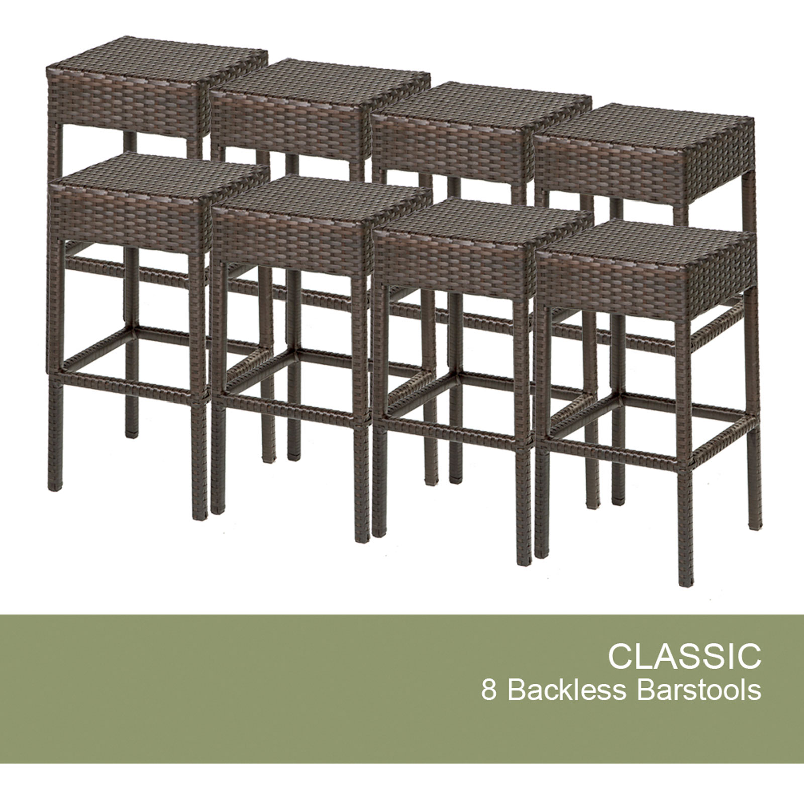 8 Classic Backless Barstools - Design Furnishings