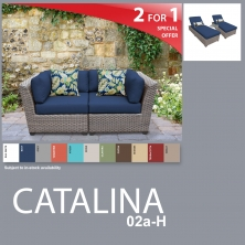 Catalina 5 Piece Outdoor Wicker Patio Furniture Package CATALINA-02a-H - Design Furnishings