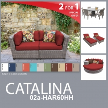 Catalina 13 Piece Outdoor Wicker Patio Furniture Package CATALINA-02a-HAR60HH - Design Furnishings
