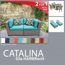 Catalina 12 Piece Outdoor Wicker Patio Furniture Package CATALINA-02a-HAR6RecH - Design Furnishings