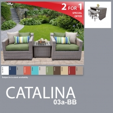 Catalina 10 Piece Outdoor Wicker Patio Furniture Package CATALINA-03a-BB - Design Furnishings
