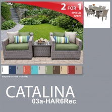 Catalina 10 Piece Outdoor Wicker Patio Furniture Package CATALINA-03a-HAR6Rec - Design Furnishings