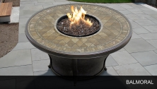 Agio Balmoral - 48 Inch Round Porcelain Top Gas Fire Pit Table - Design Furnishings