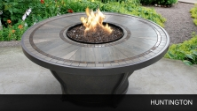 Agio Huntington - 48 Inch Round Porcelain Top Gas Fire Pit Table - Design Furnishings