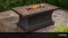 Agio Vienna - 32 x 52 Inch Rectangular Slate Top Gas Fire Pit Table - Design Furnishings