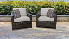 kathy ireland River Brook 2 Piece Outdoor Wicker Patio Furniture Set 02b - Design Furnishings