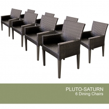 8 Pluto/Saturn Dining Chairs With Arms - Design Furnishings