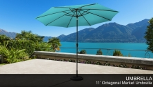 11' Outdoor Market Umbrella for kathy ireland Homes & Gardens - Design Furnishings